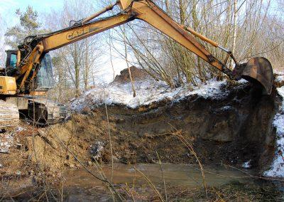 Landschaftspflegeverband Landkreis Augsburg e.V. Bau einer Eisvogelwand